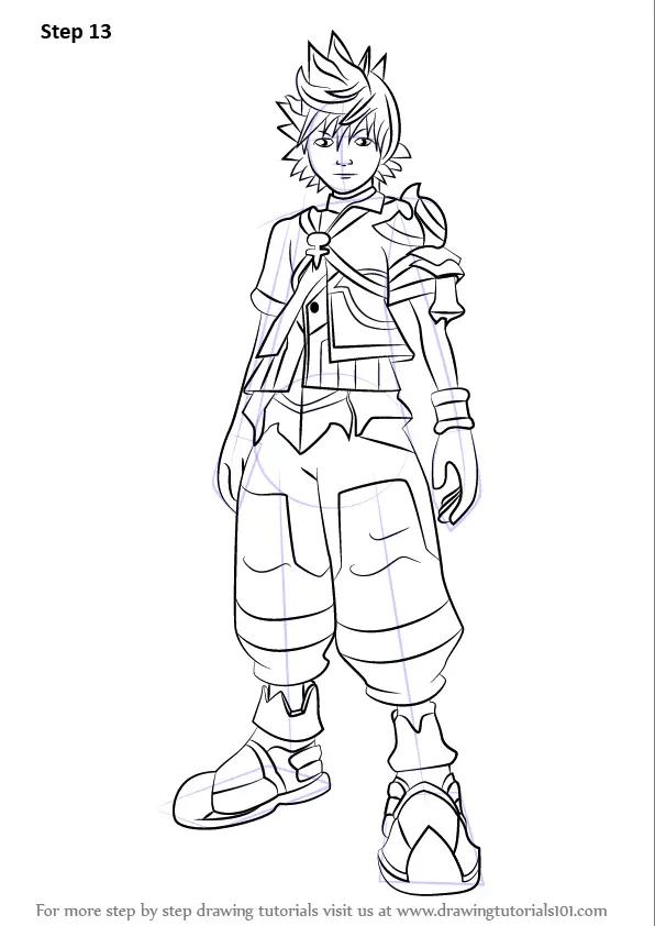Learn How to Draw Ventus from Kingdom Hearts (Kingdom