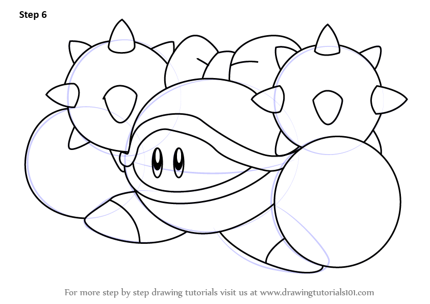 Learn How To Draw Iron Mam From Kirby Kirby Step By Step