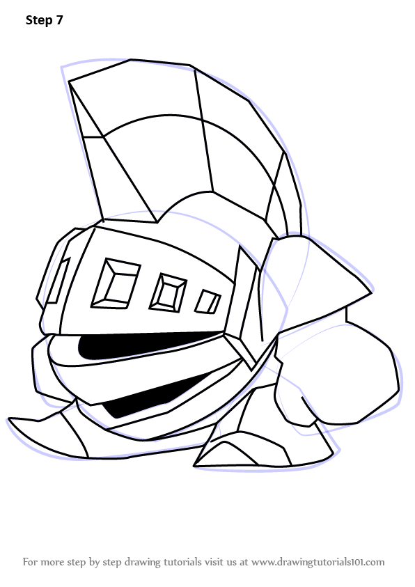 Draw Dyna Blade From Kirby Step By Step Drawing Sheets