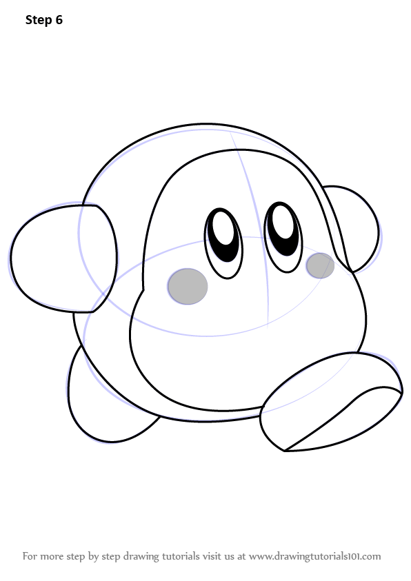 Learn How To Draw Waddle Dee From Kirby Kirby Step By