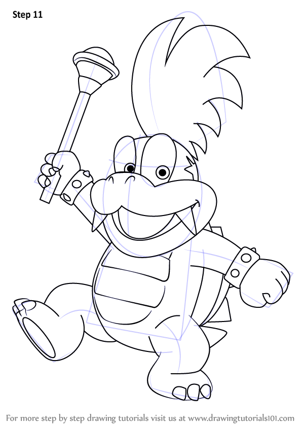 Learn How to Draw Larry Koopa from Koopalings (Koopalings