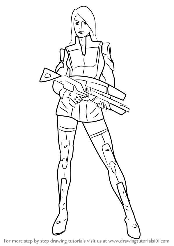 Learn How to Draw Ashley Williams from Mass Effect (Mass