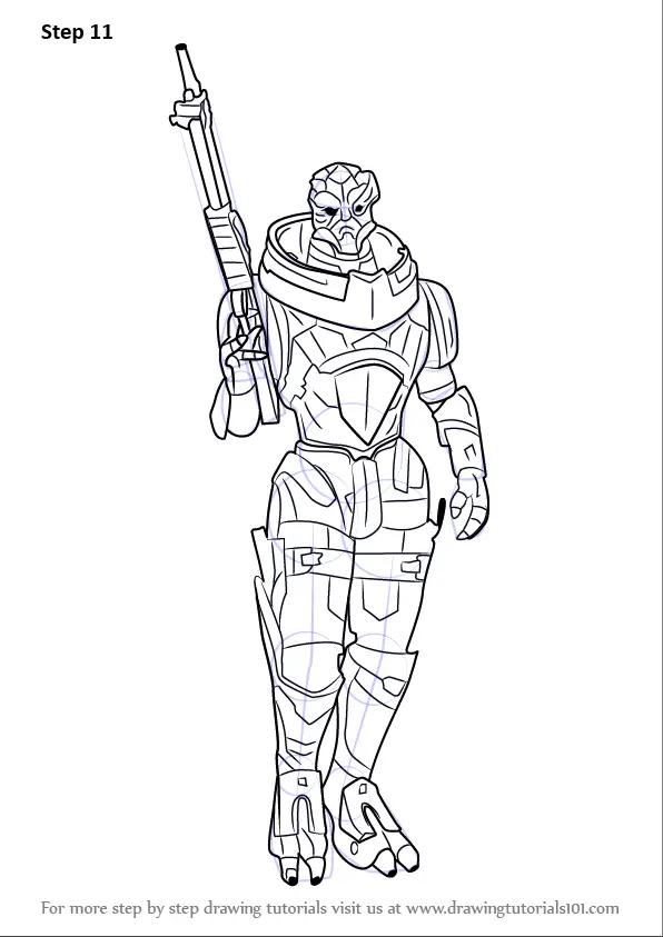 Learn How to Draw Garrus Vakarian from Mass Effect (Mass