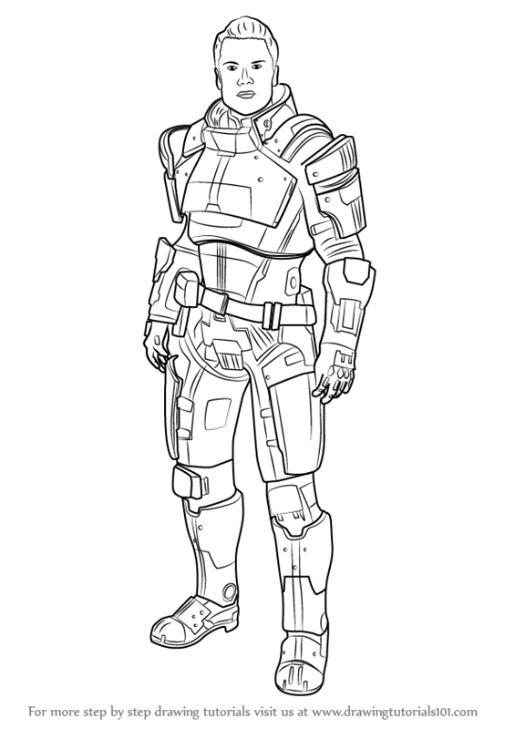 Learn How to Draw Kaidan Alenko from Mass Effect (Mass