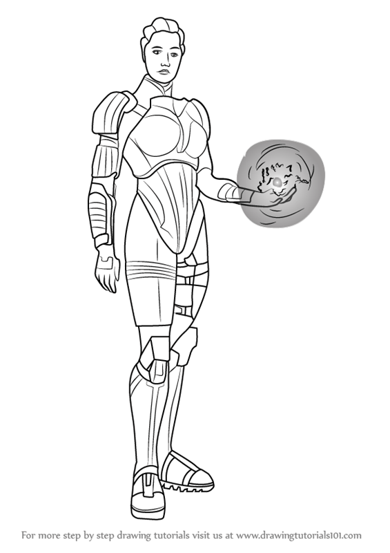 Learn How to Draw Liara T'Soni from Mass Effect (Mass