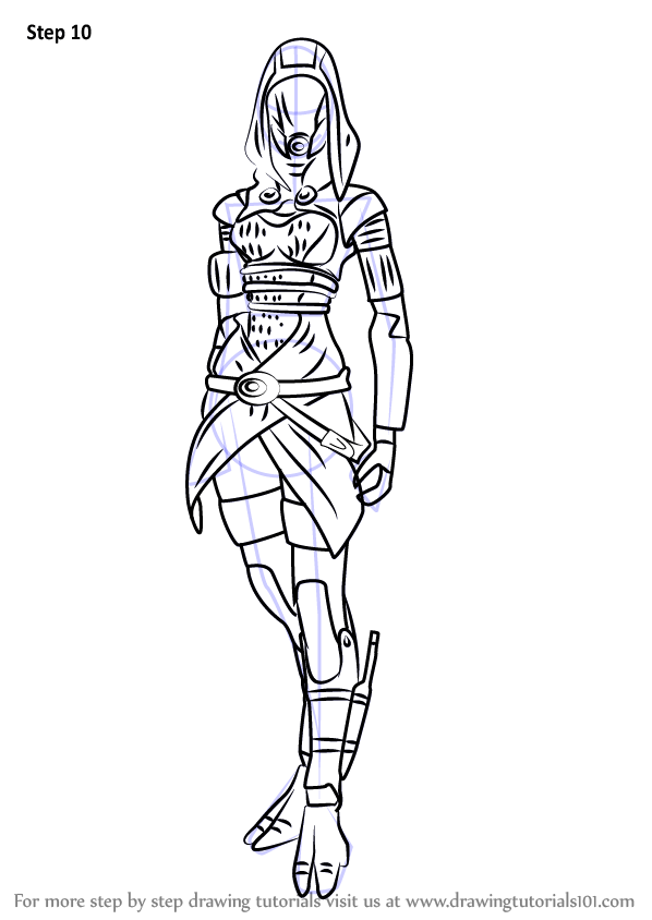 Learn How to Draw Tali'Zorah nar Rayya from Mass Effect