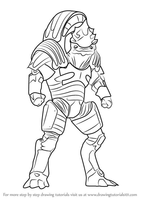 Learn How to Draw Urdnot Wrex from Mass Effect (Mass