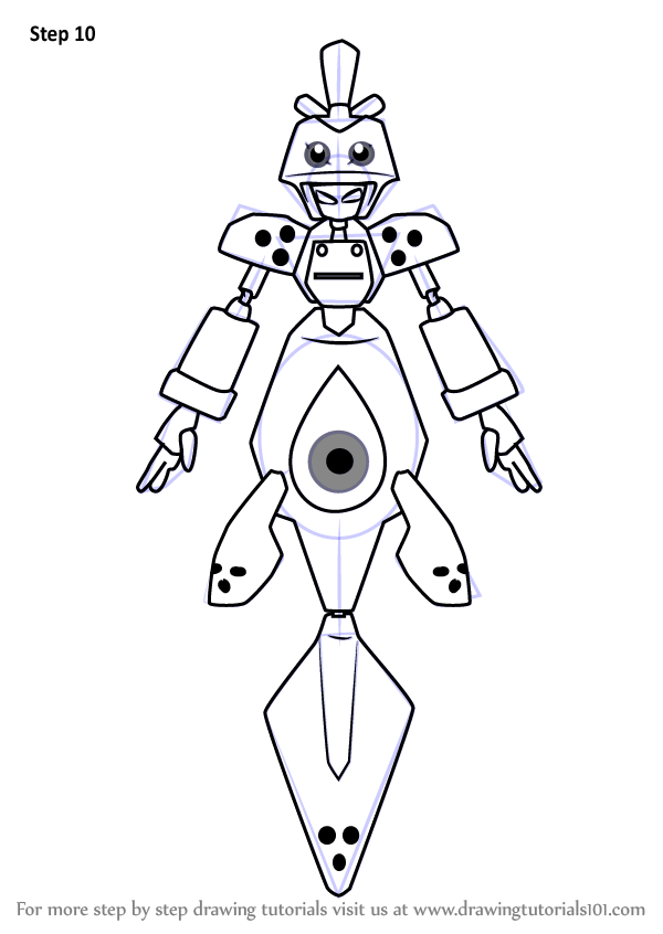 Learn How to Draw Saldron from Medabots (Medabots) Step by