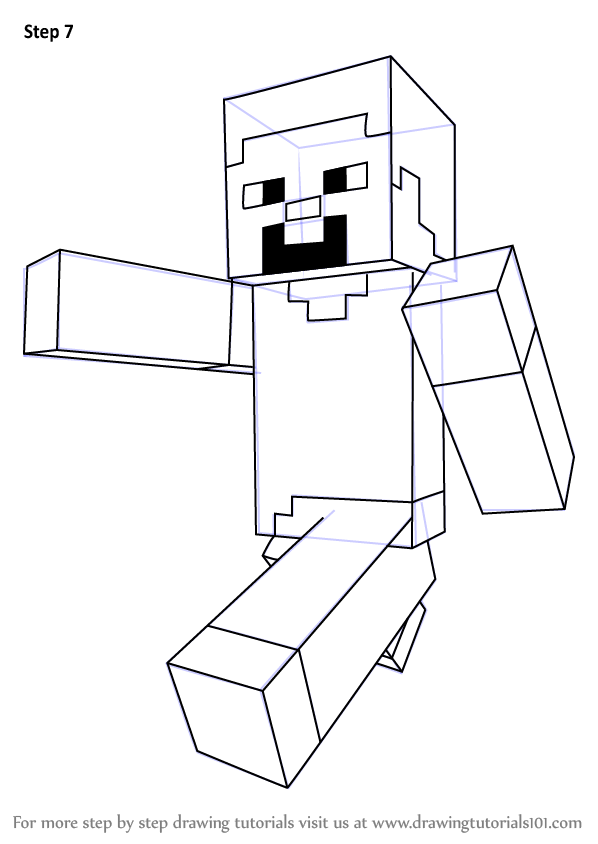 Learn How to Draw Steve from Minecraft (Minecraft) Step by