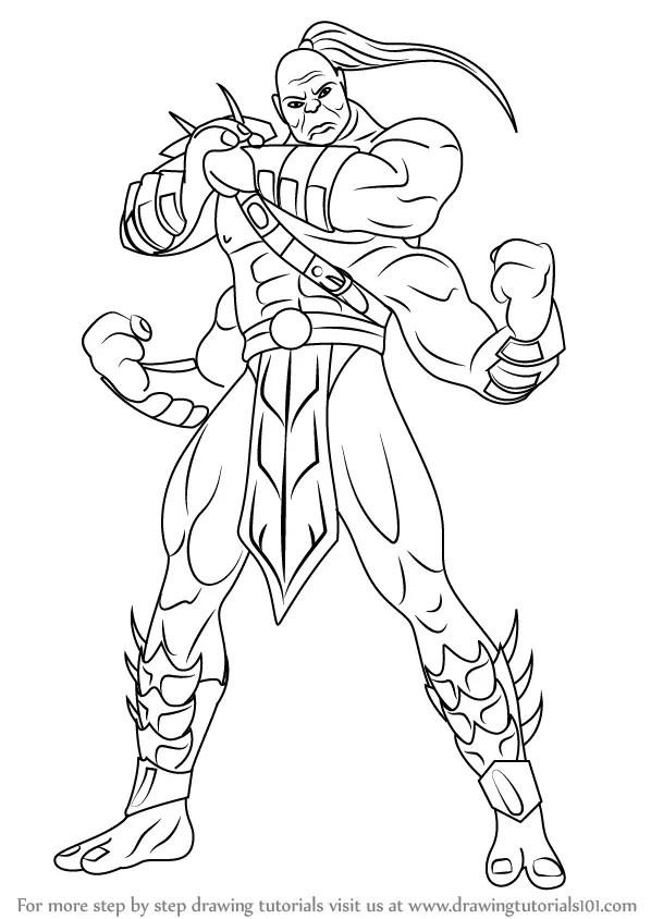 Learn How to Draw Goro from Mortal Kombat (Mortal Kombat