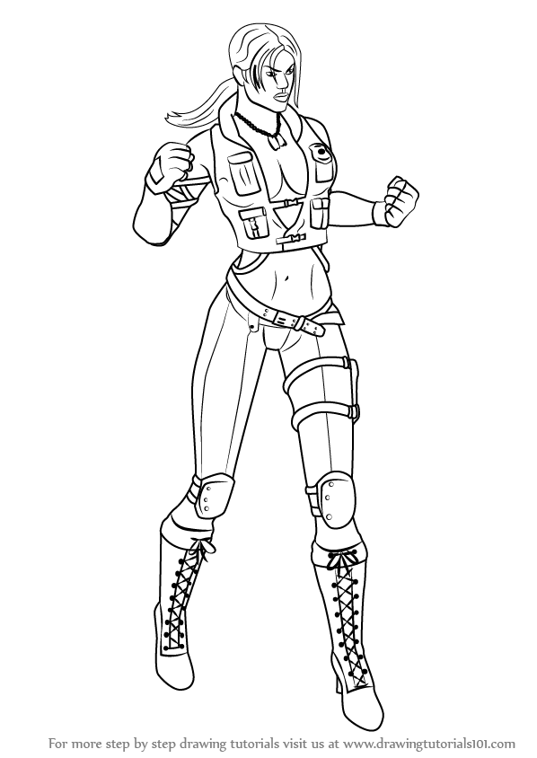Learn How to Draw Sonya Blade from Mortal Kombat (Mortal