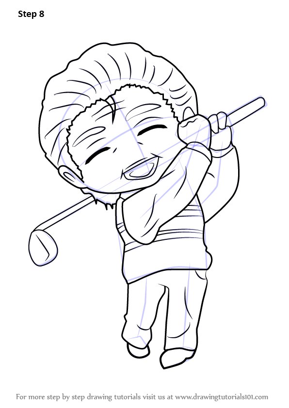 Learn How to Draw Golf Guest from Mystic Messenger (Mystic