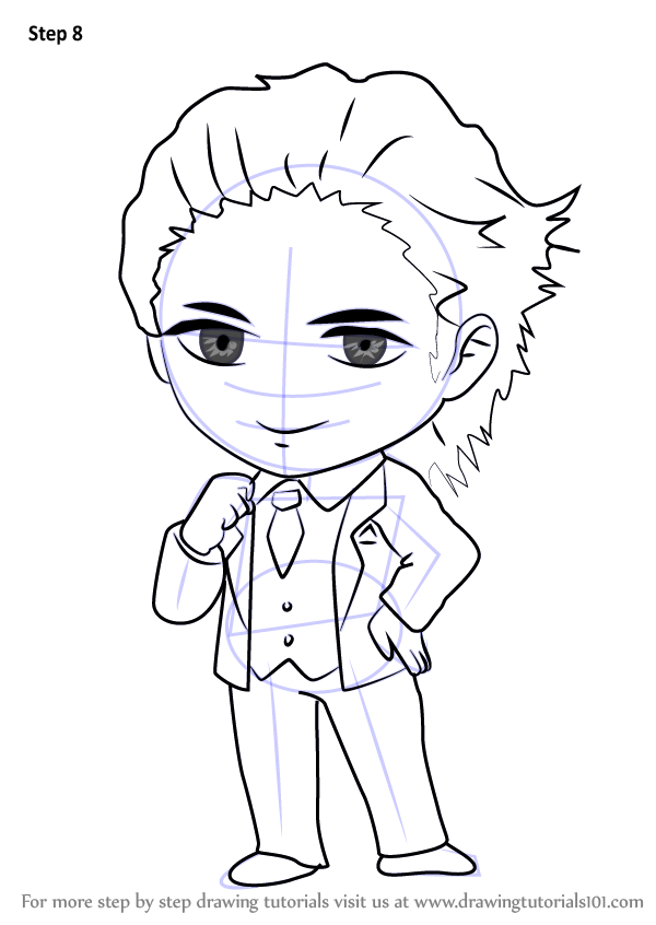 Learn How to Draw Model Guest from Mystic Messenger