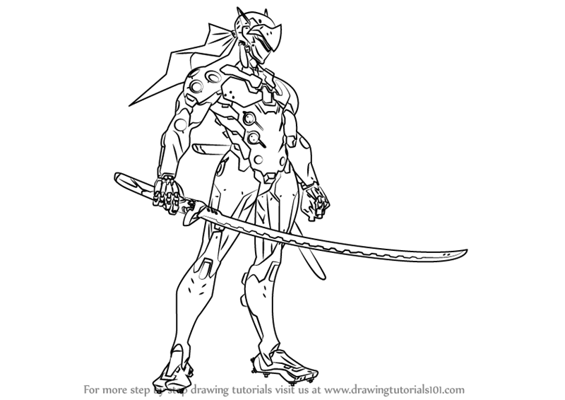 Learn How to Draw Genji from Overwatch (Overwatch) Step by