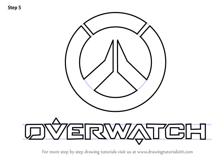 Learn How to Draw Overwatch Logo (Overwatch) Step by Step