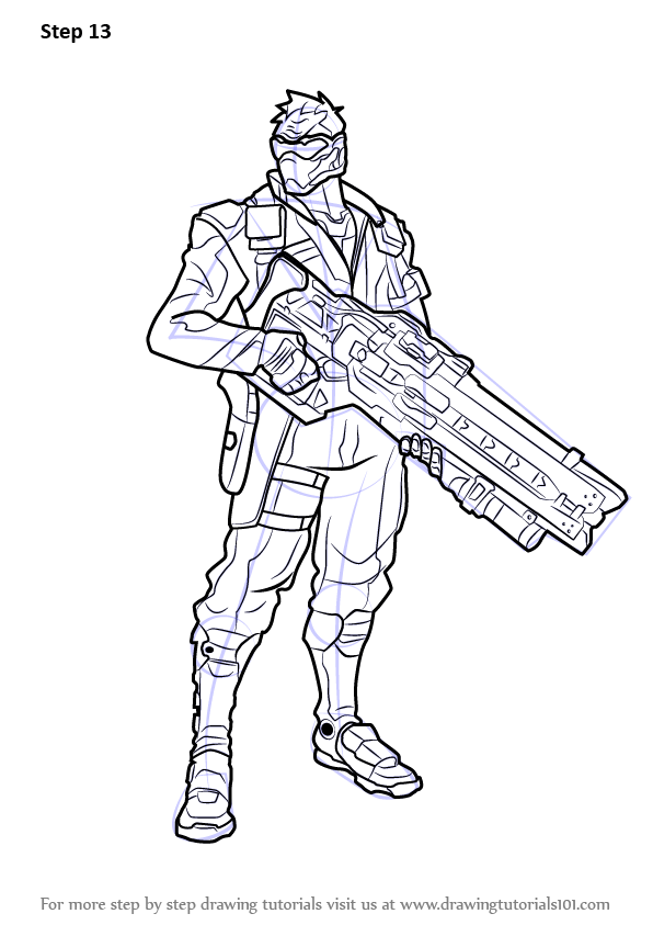 Learn How To Draw Soldier 76 From Overwatch Overwatch