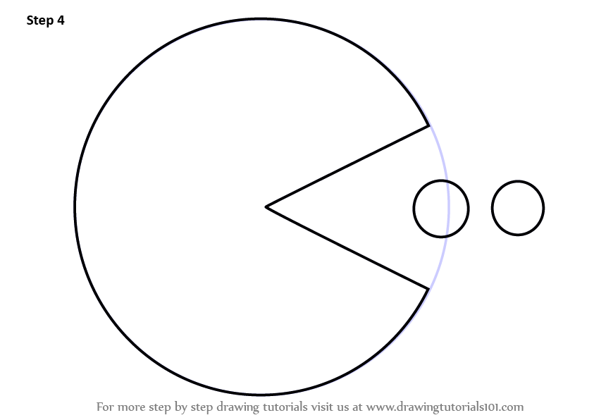 Learn How to Draw Pac Man (Pac Man) Step by Step : Drawing