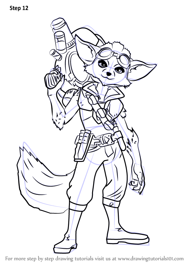 Learn How to Draw Pip from Paladins (Paladins) Step by