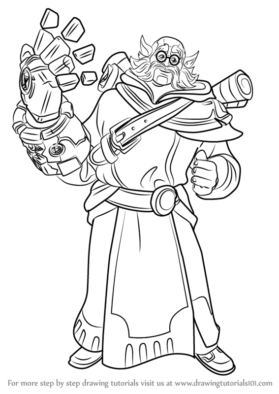 Learn How to Draw Torvald from Paladins (Paladins) Step by