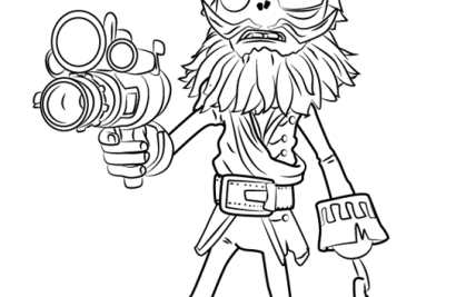 Two Coloring Pages Plants Vs Zombies Garden Warfare