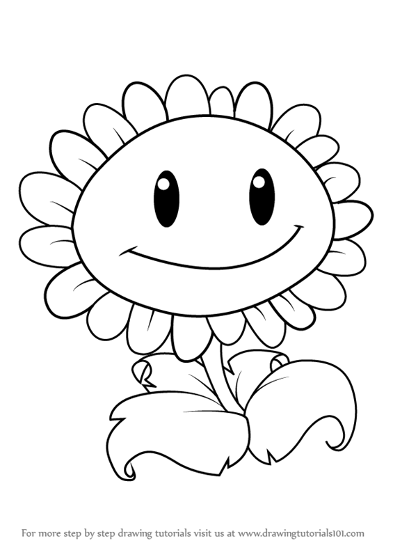 Learn How To Draw Giant Sunflower From Plants Vs Zombies