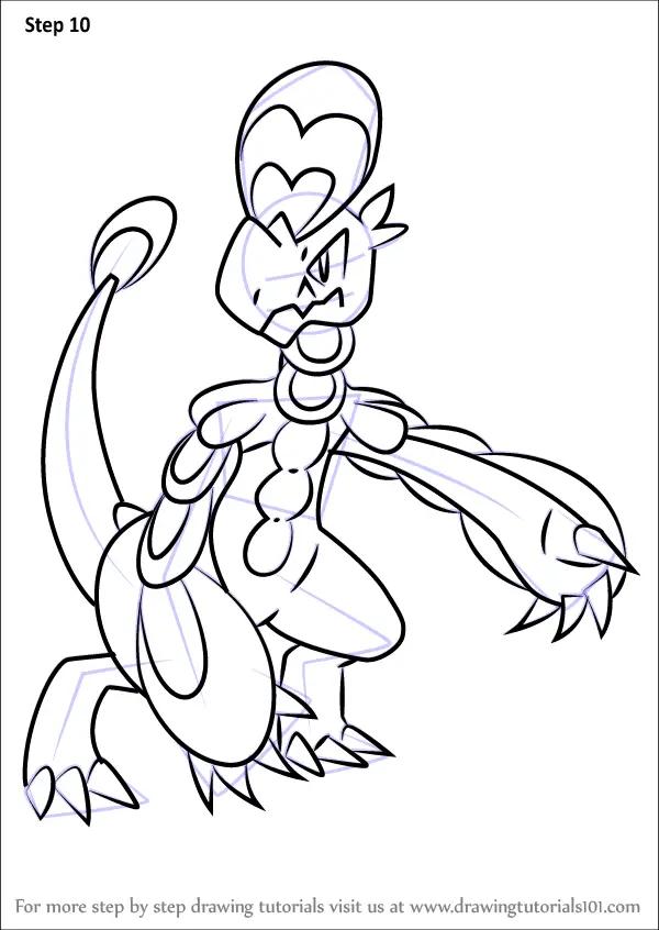 Learn How To Draw Hakamo O From Pokemon Sun And Moon