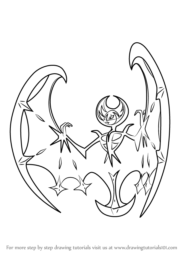 learn how to draw lunala from pokemon sun and moon
