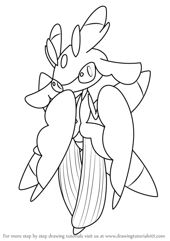 learn how to draw lurantis from pokemon sun and moon