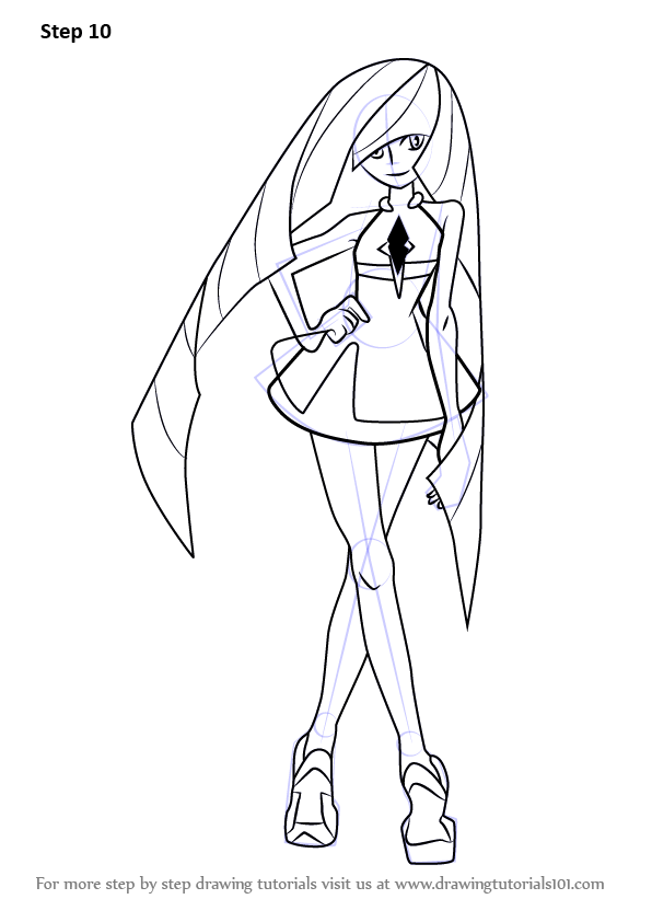 Learn How to Draw Lusamine from Pokemon Sun and Moon