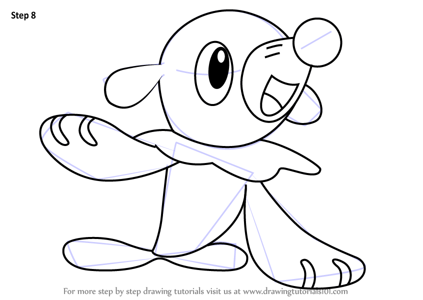 Learn How to Draw Popplio from Pokemon Sun and Moon