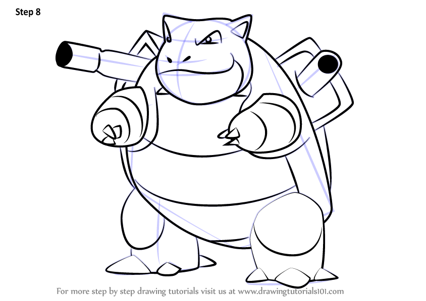 Learn How to Draw Blastoise from Pokemon GO (Pokemon GO