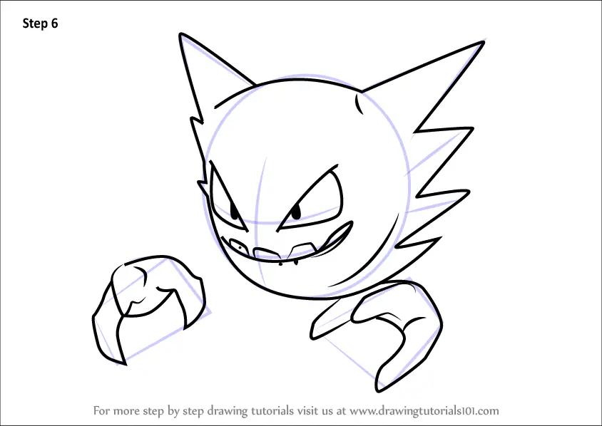 Learn How to Draw Haunter from Pokemon GO (Pokemon GO