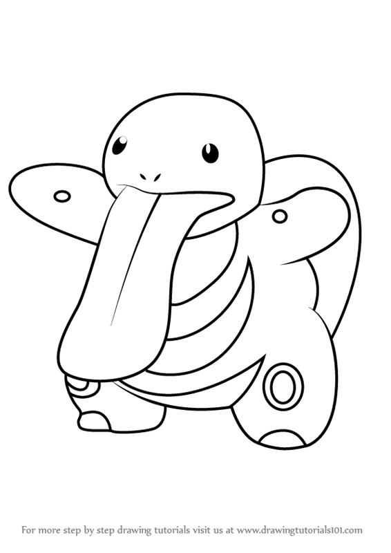 Learn How to Draw Lickitung from Pokemon GO (Pokemon GO
