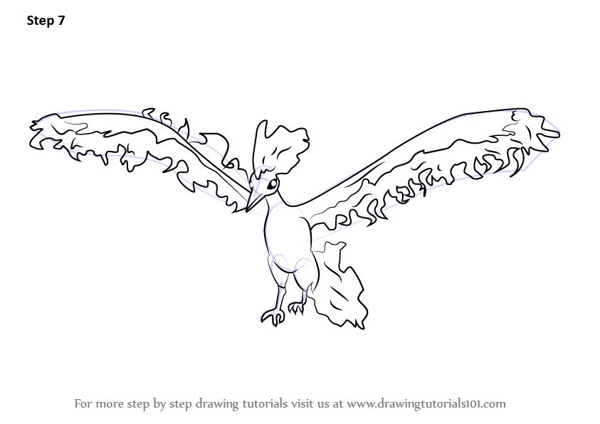Learn How to Draw Moltres from Pokemon GO (Pokemon GO