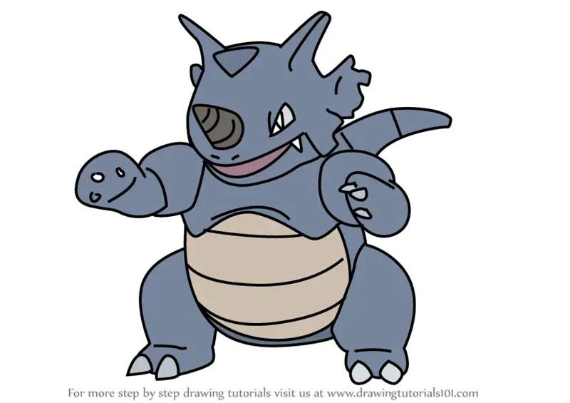 Learn How to Draw Rhydon from Pokemon GO (Pokemon GO) Step