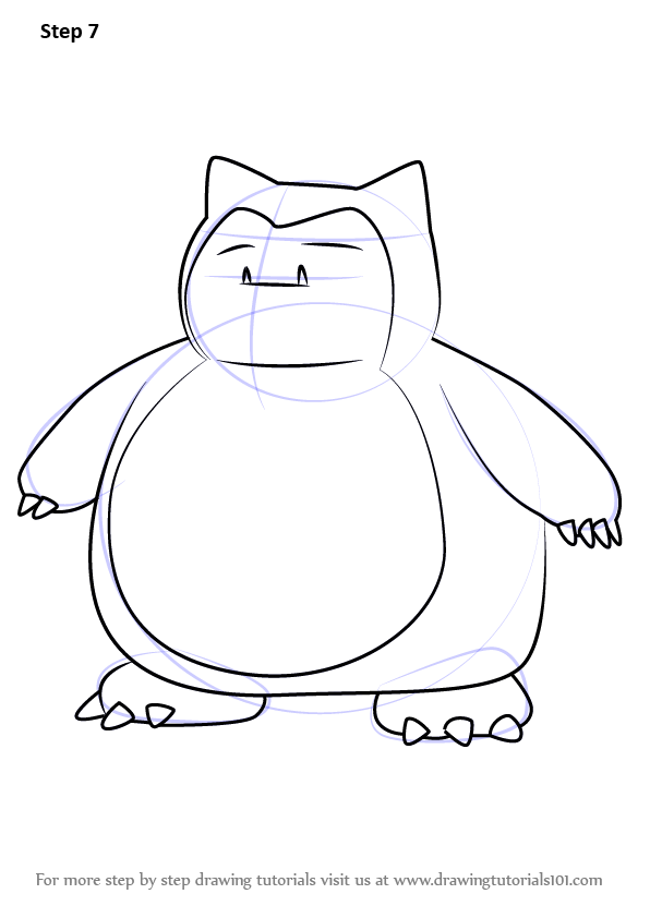 Learn How to Draw Snorlax from Pokemon GO (Pokemon GO