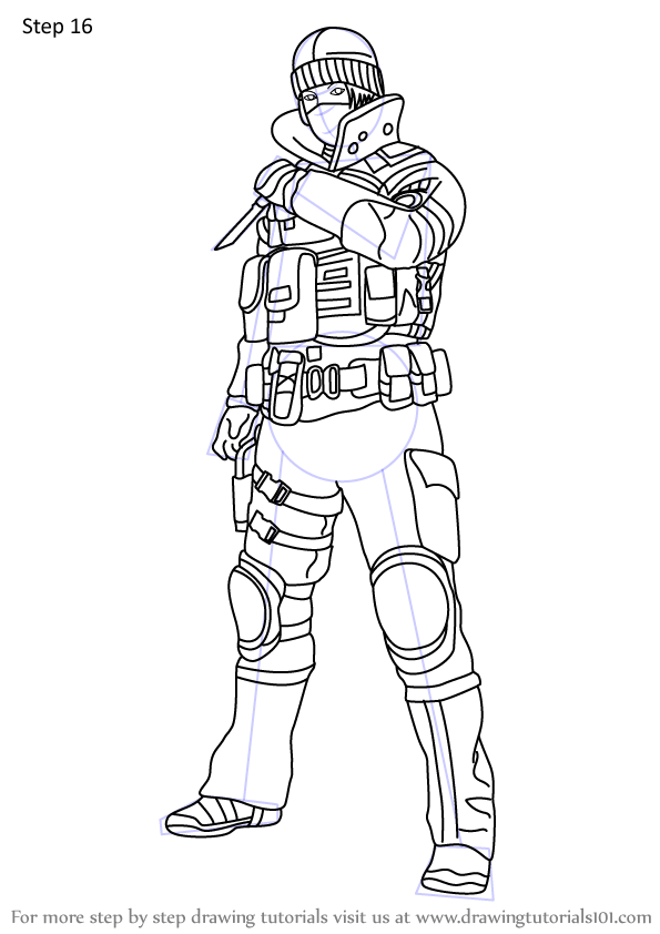 Learn How to Draw Frost from Rainbow Six Siege (Rainbow