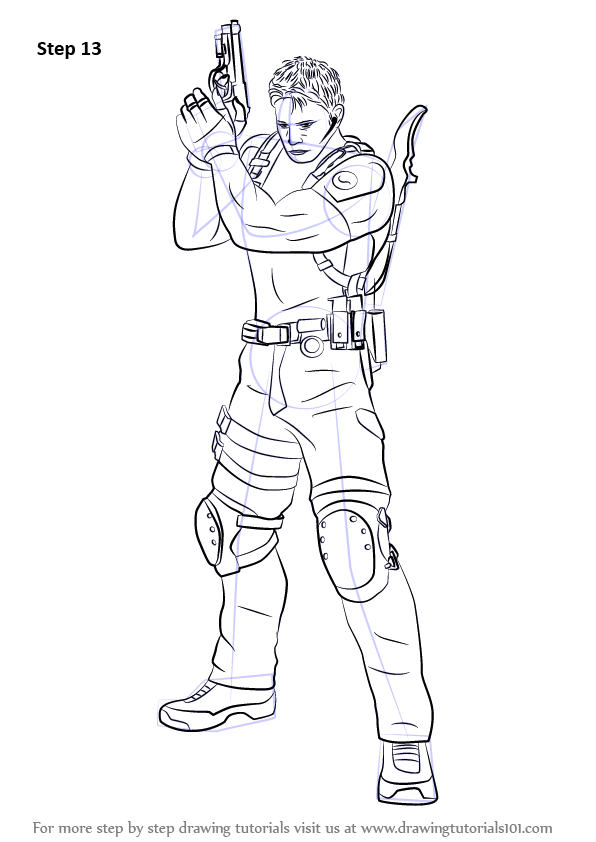 Learn How To Draw Chris Redfield From Resident Evil