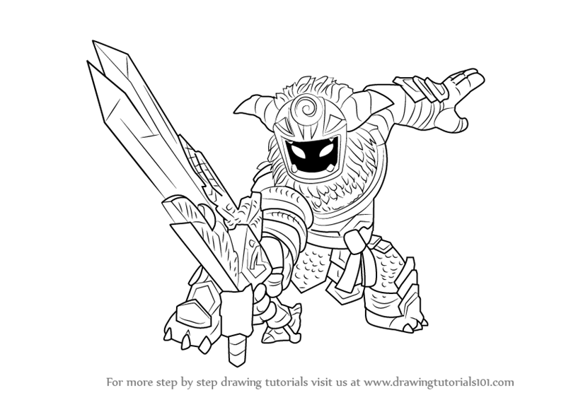 Learn How To Draw Wild Storm From Skylanders Skylanders