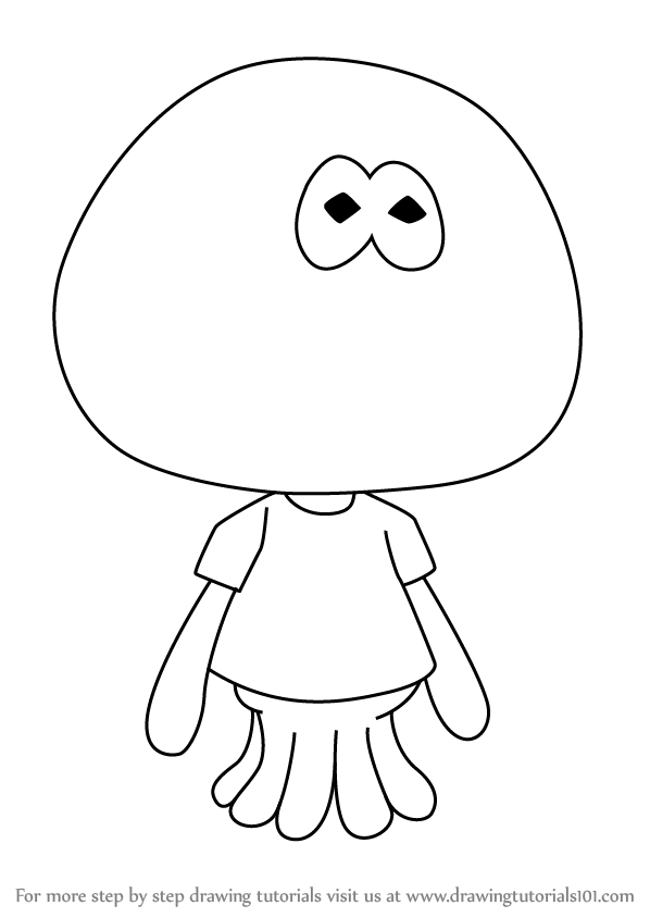 learn how to draw jellyfish from splatoon step by