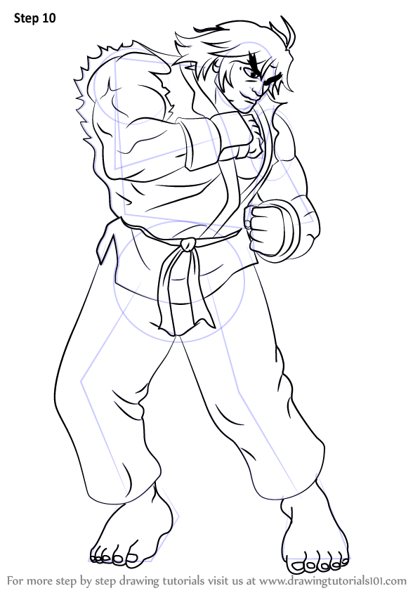 Learn How to Draw Ken from Street Fighter (Street Fighter