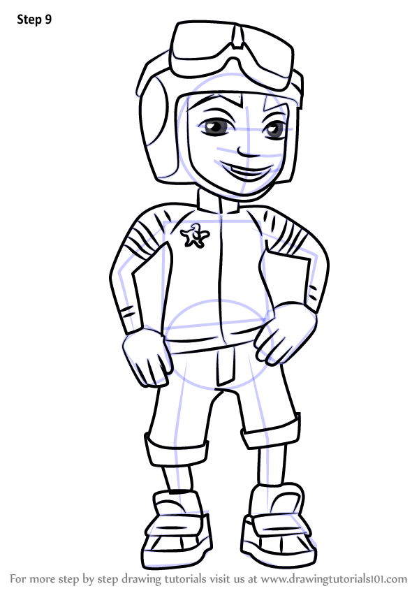 Learn How to Draw Roberto from Subway Surfers (Subway