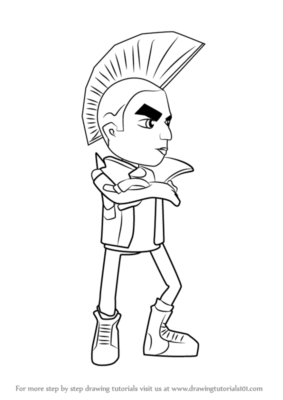Learn How To Draw Spike From Subway Surfers Subway