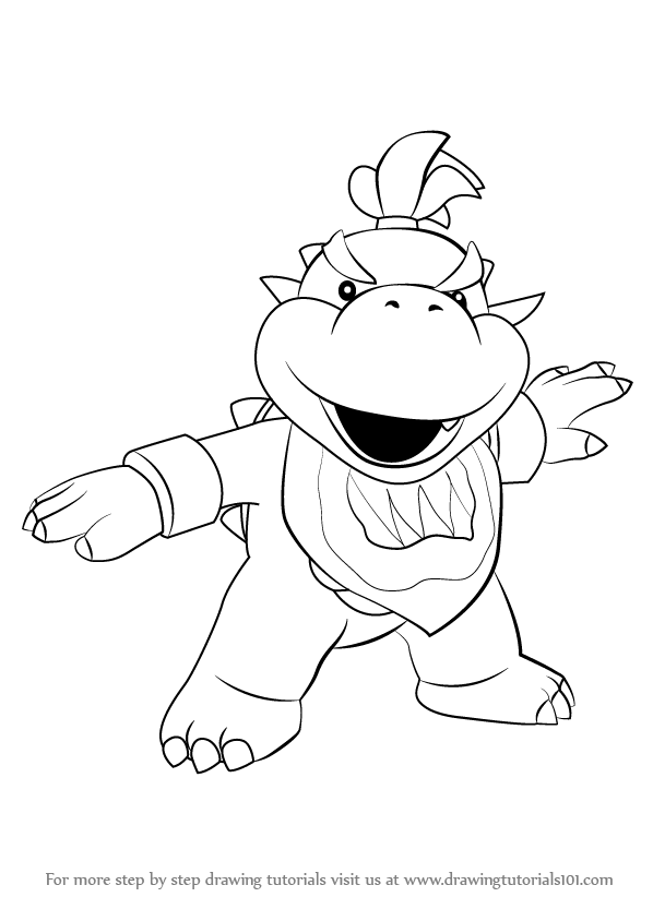 Learn How to Draw Bowser Jr. from Super Mario (Super Mario