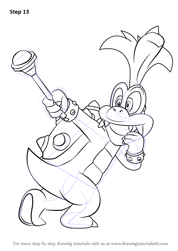 Learn How to Draw Iggy Koopa from Super Mario (Super Mario