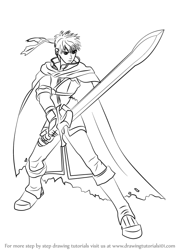 Learn How to Draw Ike from Super Smash Bros (Super Smash