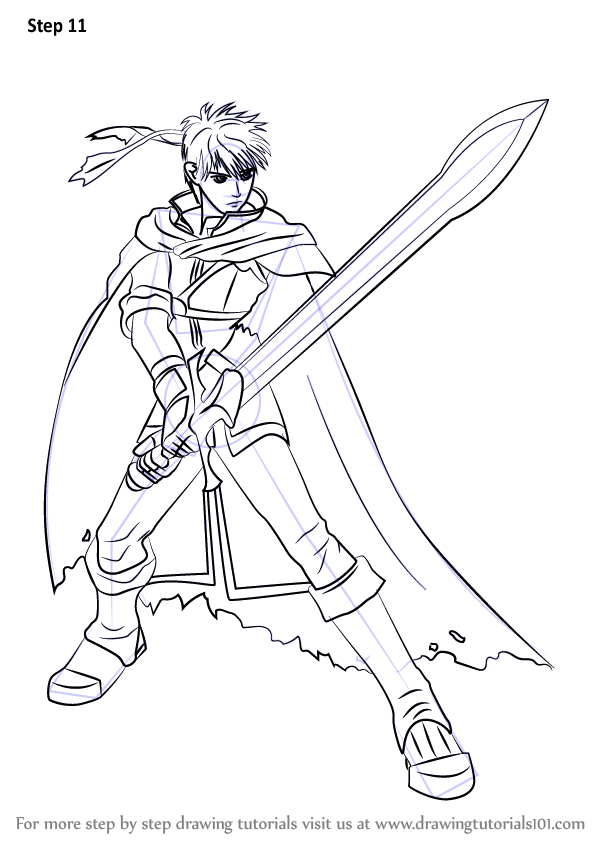 Learn How To Draw Ike From Super Smash Bros Super Smash