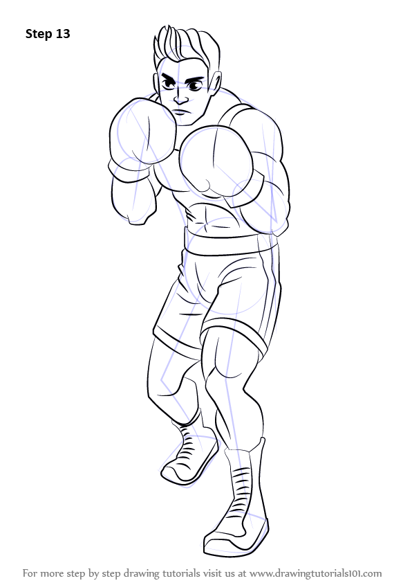 Learn How to Draw Little Mac from Super Smash Bros (Super