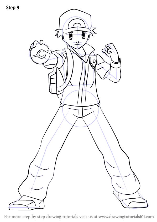 Learn How To Draw Pokmon Trainer From Super Smash Bros Super Smash Bros Step By Step