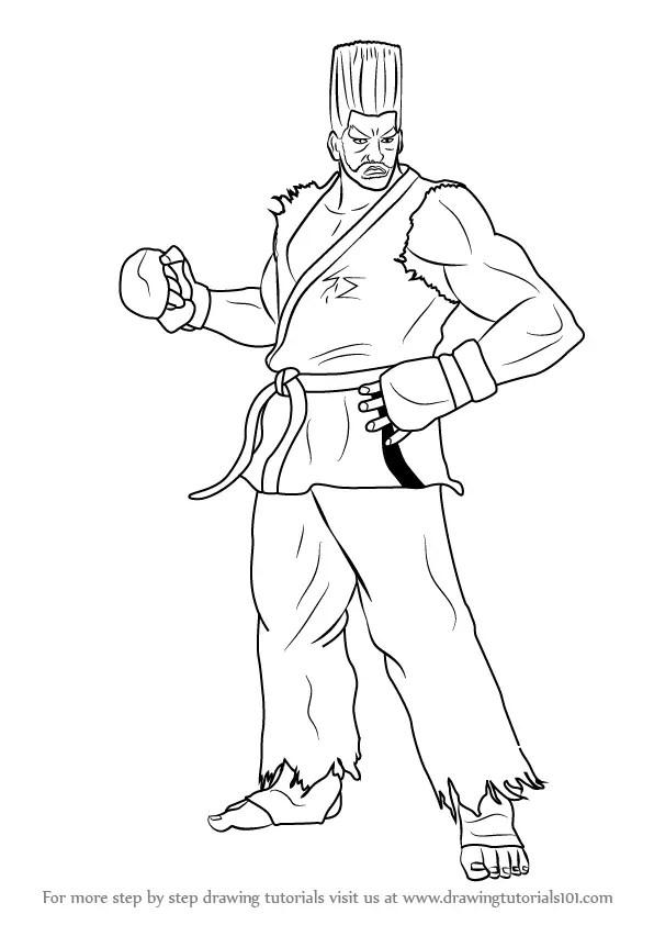Learn How to Draw Paul Phoenix from Tekken (Tekken) Step